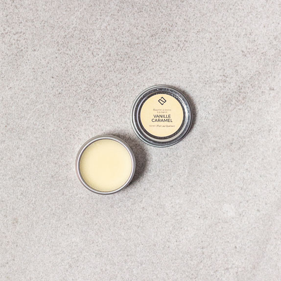 Baume à lèvres vanille caramel