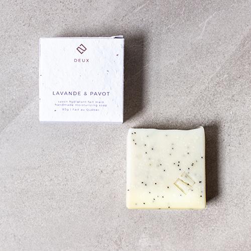savon exfoliant lavande