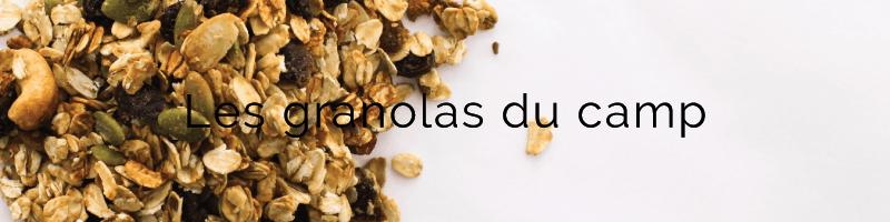 Titre : Les granolas du camp